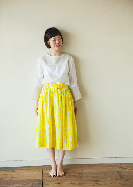 直線裁ちおとなギャザースカートの製図・型紙と作り方