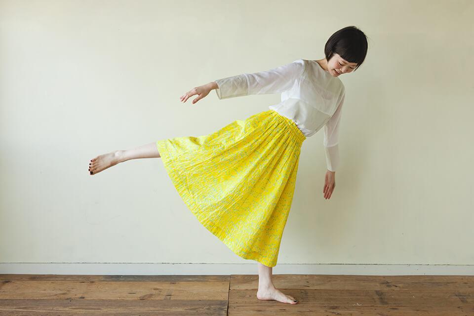 直線裁ちおとなギャザースカートの作り方 製図型紙パターン