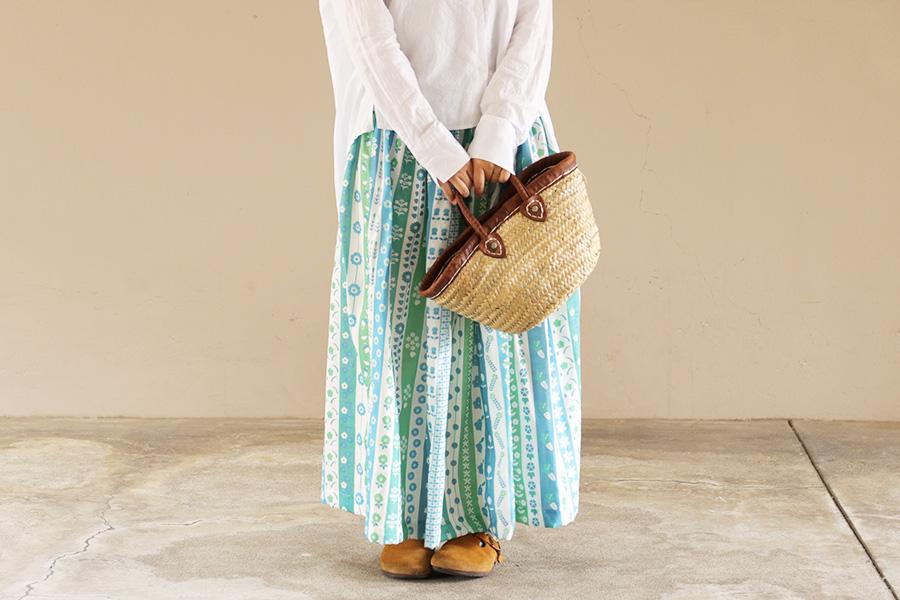 直線縫い ギャザースカート
