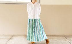 【型紙不要】直線裁ちおとなギャザースカートの作り方