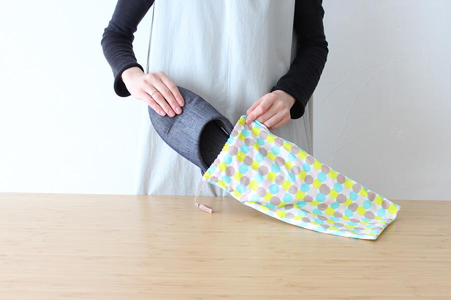 簡単!巾着型スリッパ袋を作ってみました。