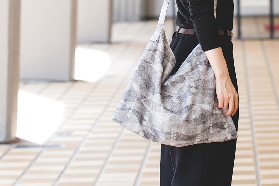 ぺたんこショルダーバッグの作り方と製図・パターン