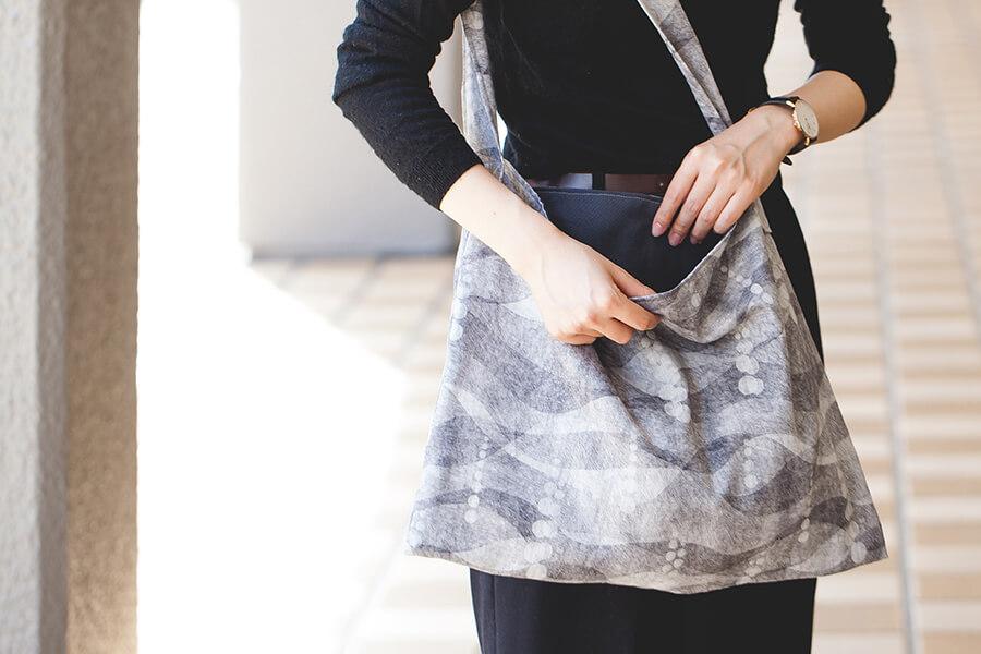 ぺたんこショルダーバッグの製図・型紙と作り方