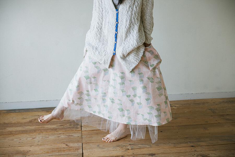 大きなポケットのフレアスカートの作り方と製図・パターン