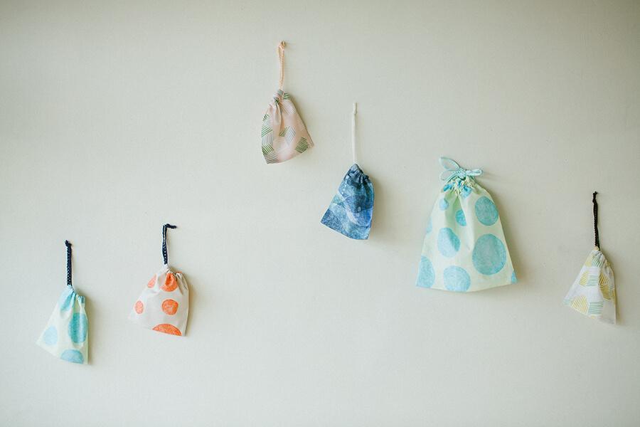基本の巾着袋(両ひも・片ひも)の作り方と製図・パターン