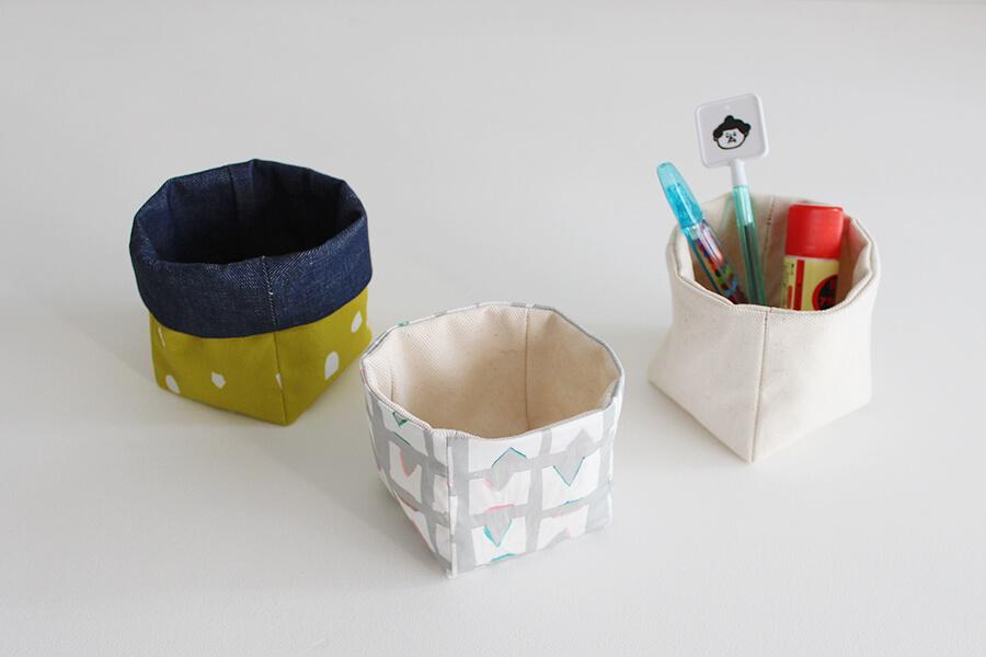 ちょっとした小物入れに。布で作るキューブ型BOXの作り方