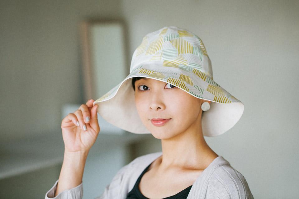 たためる帽子の作り方と製図・パターン
