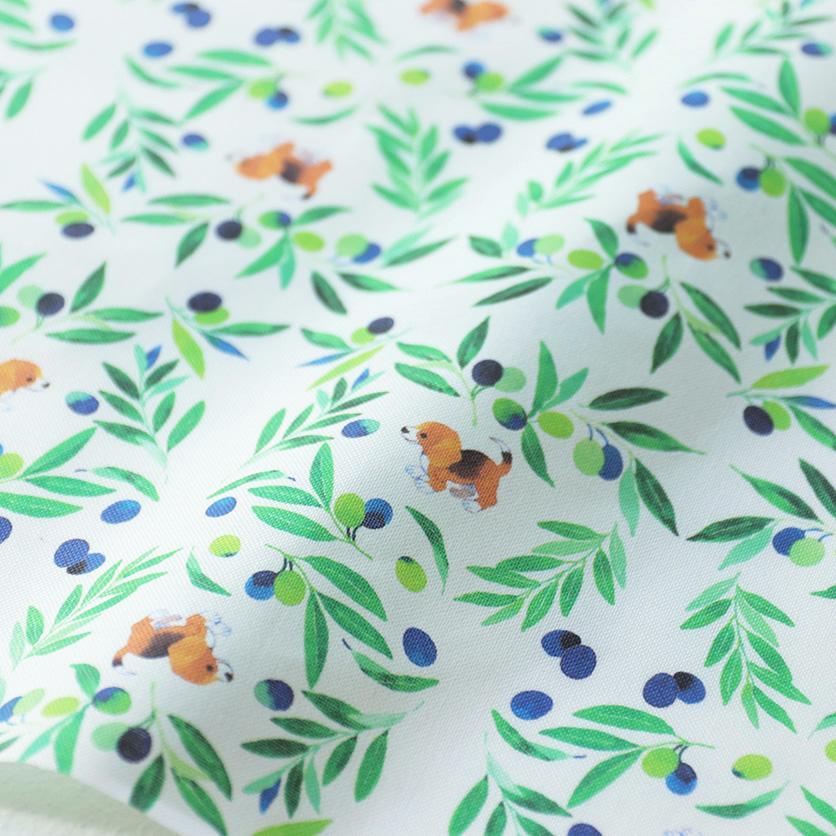 nunocoto fabric:オリーブとビーグル