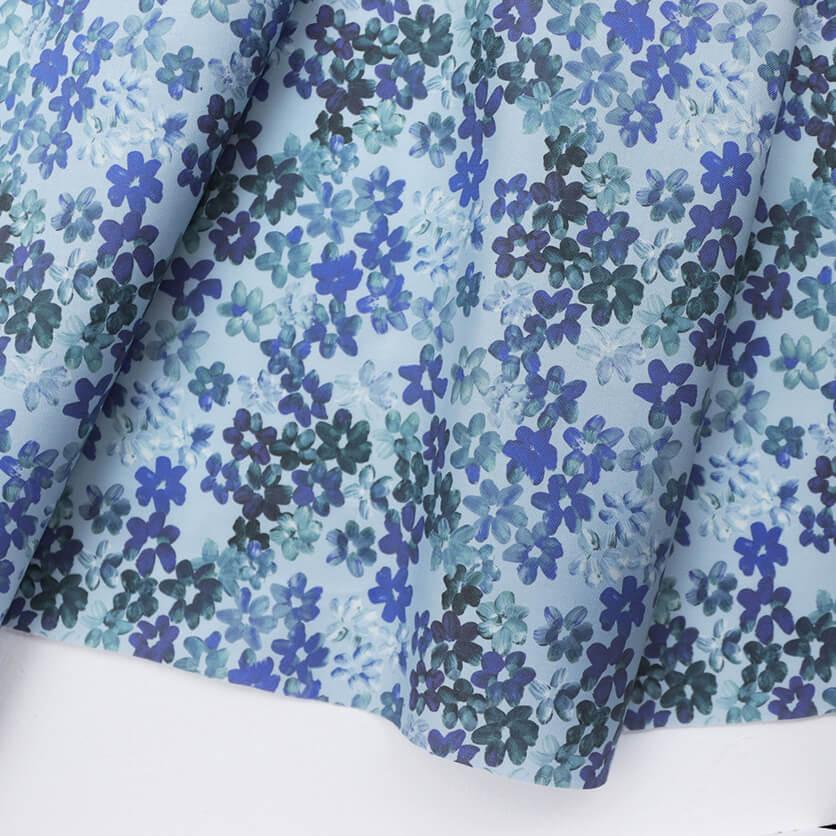 nunocoto fabric:full bloom(mini/ブルーグレー)