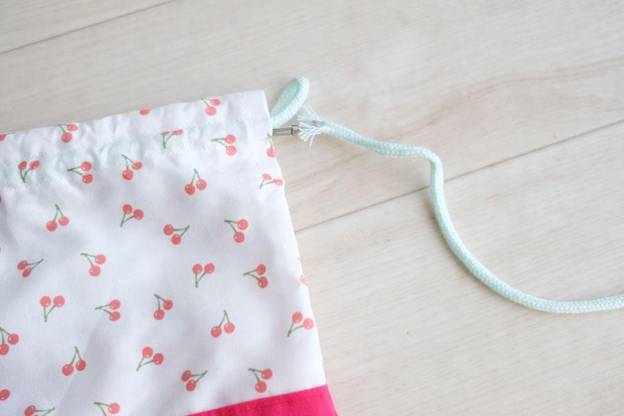 お弁当袋(巾着袋タイプ)の製図・型紙と作り方