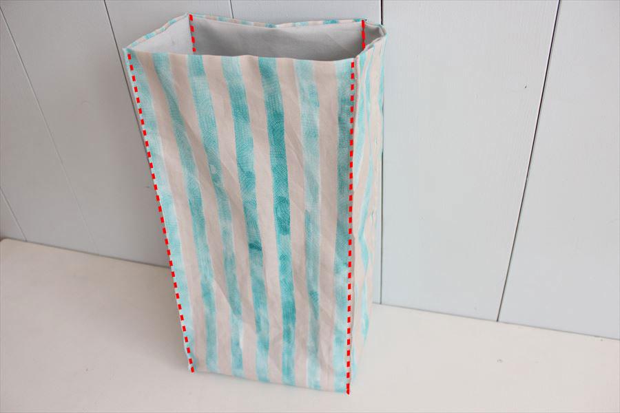 お弁当袋(ランチバッグタイプ)の製図・型紙と作り方