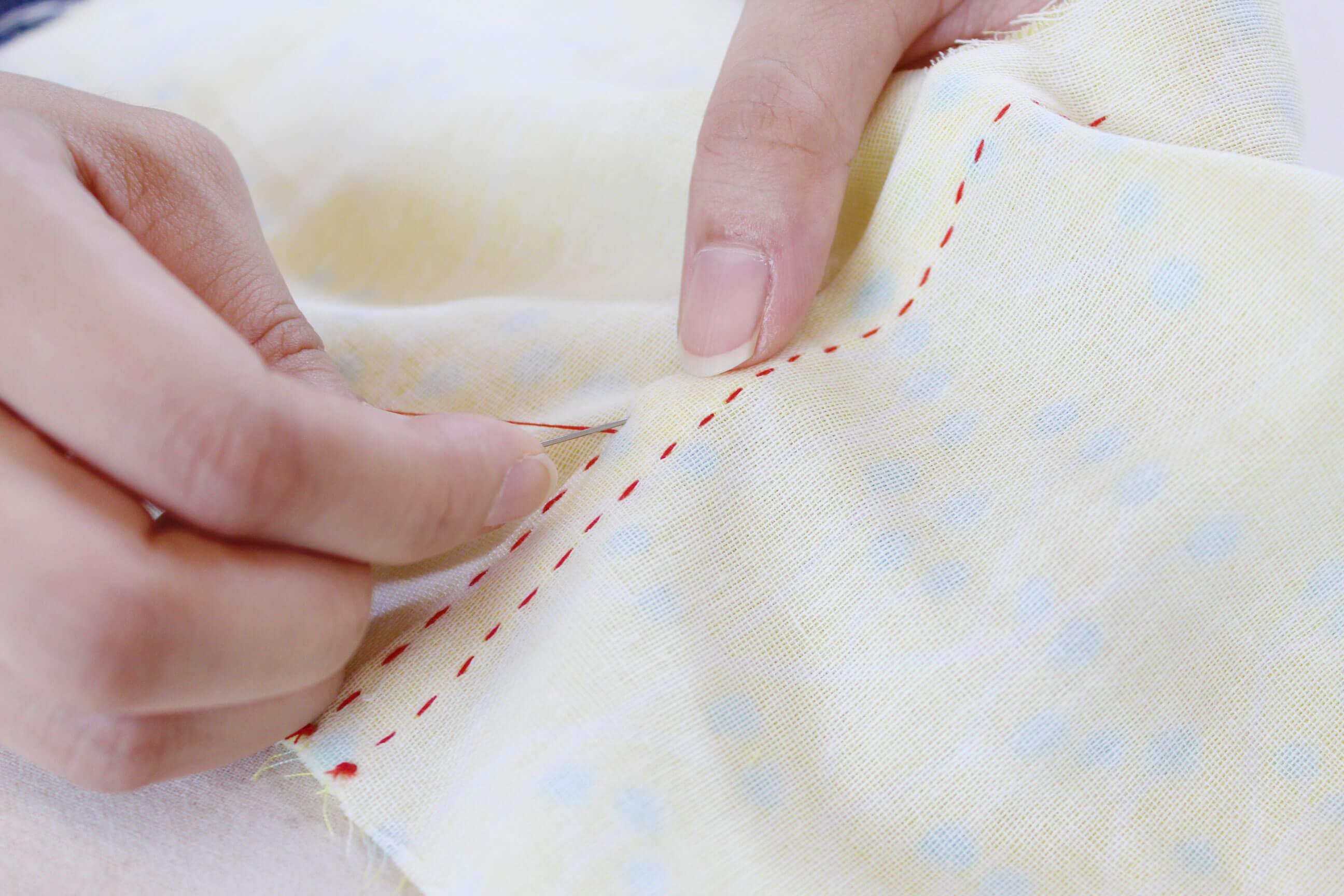 ぬいしろの始末の仕方(手縫い)