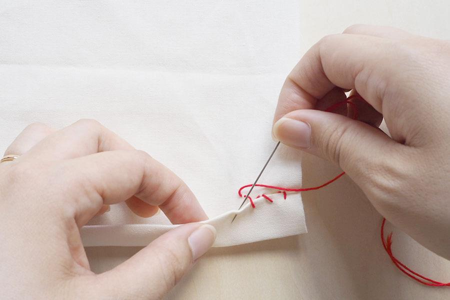 まつり縫いの仕方(手縫い)