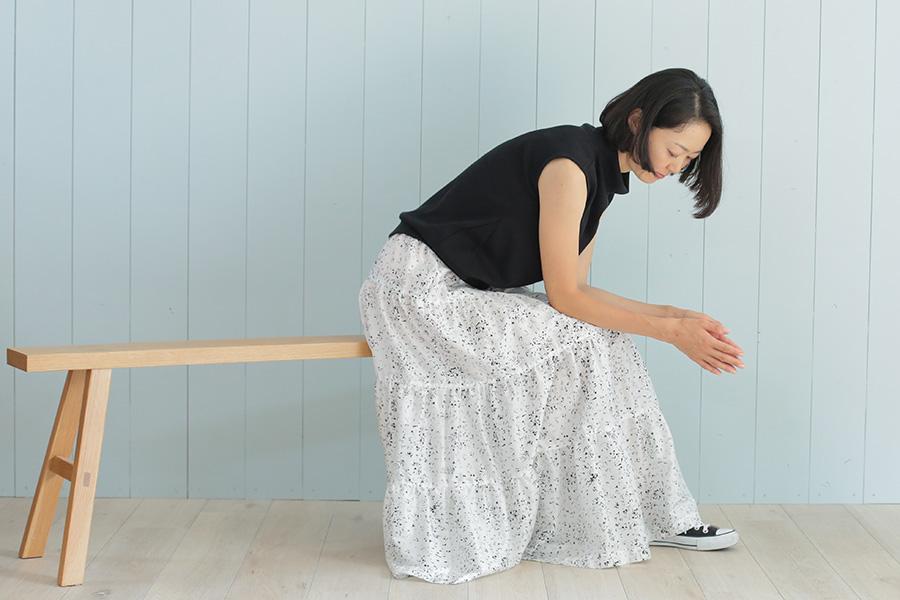 ティアードマキシスカートの製図・型紙と作り方