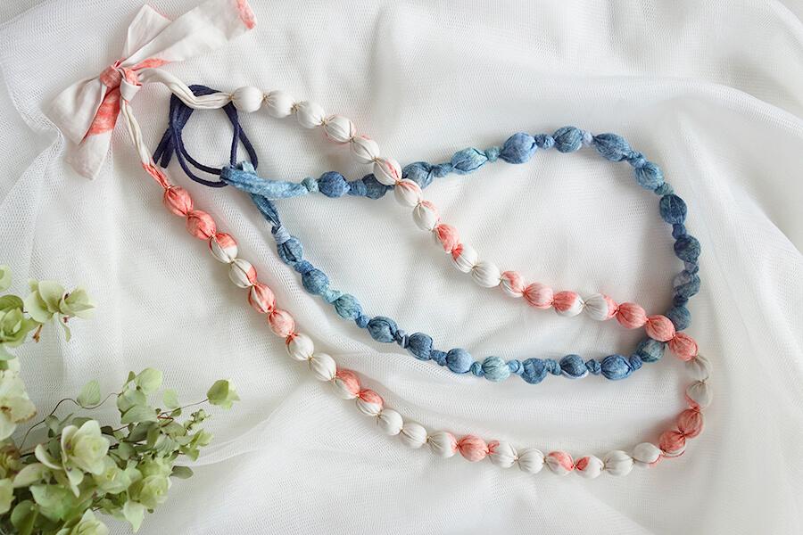 お気に入りの布で作ろう!ラッピングネックレスの作り方