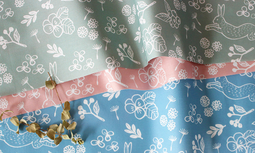 nunocoto fabric:rabbit garden