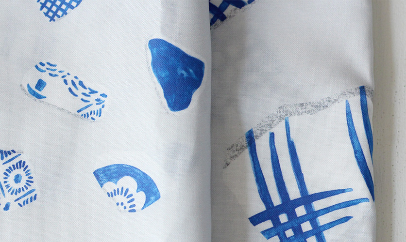 nunocoto fabric: 陶器のシーグラス