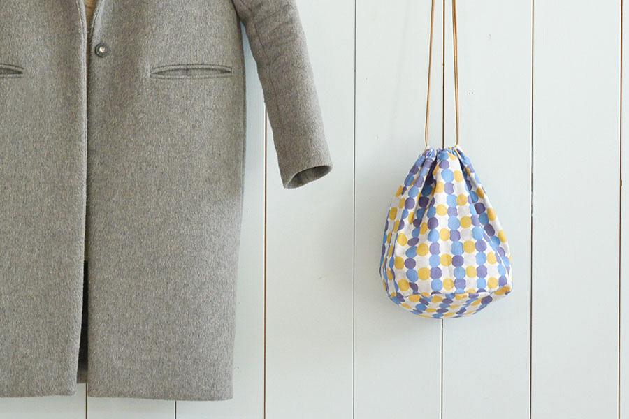 ころんとした形がかわいい♪丸底巾着バッグの作り方