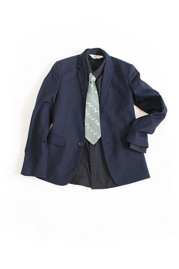 ネクタイ ポケットチーフ 作り方