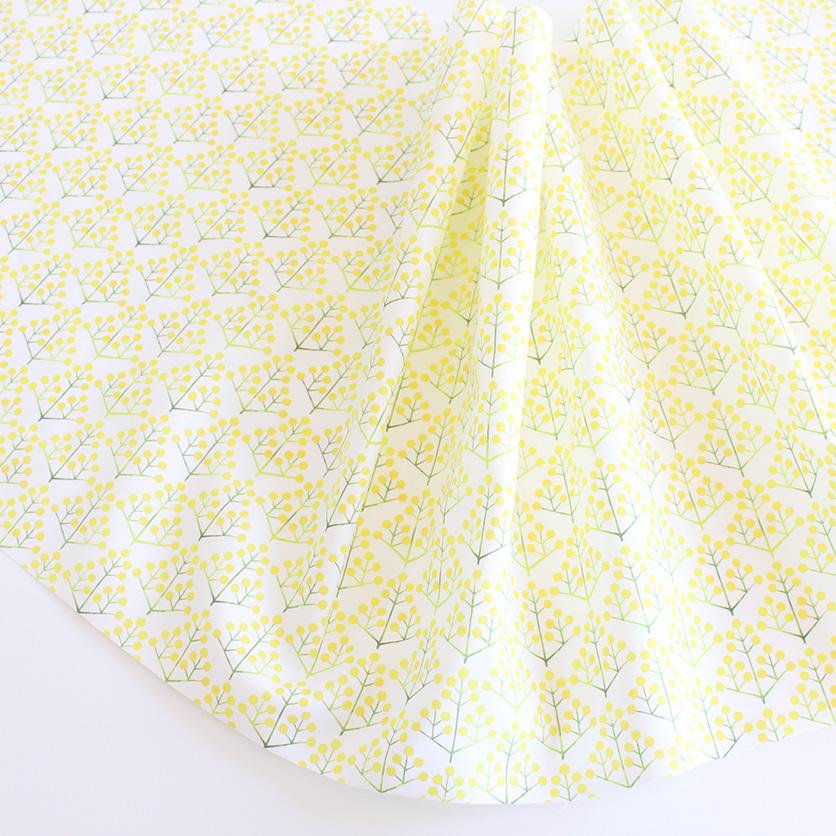 nunocoto fabric:ミモザの花束 mini(ホワイト)