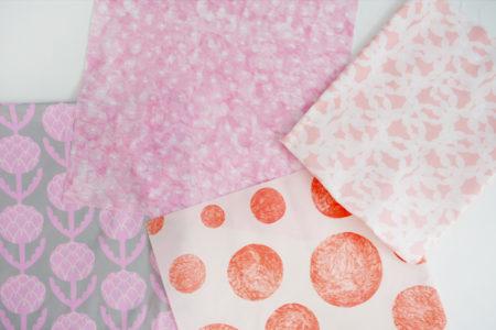 今日の、布コンビ愛。桃の節句なので、ピンク×寒色の甘辛コンビ。