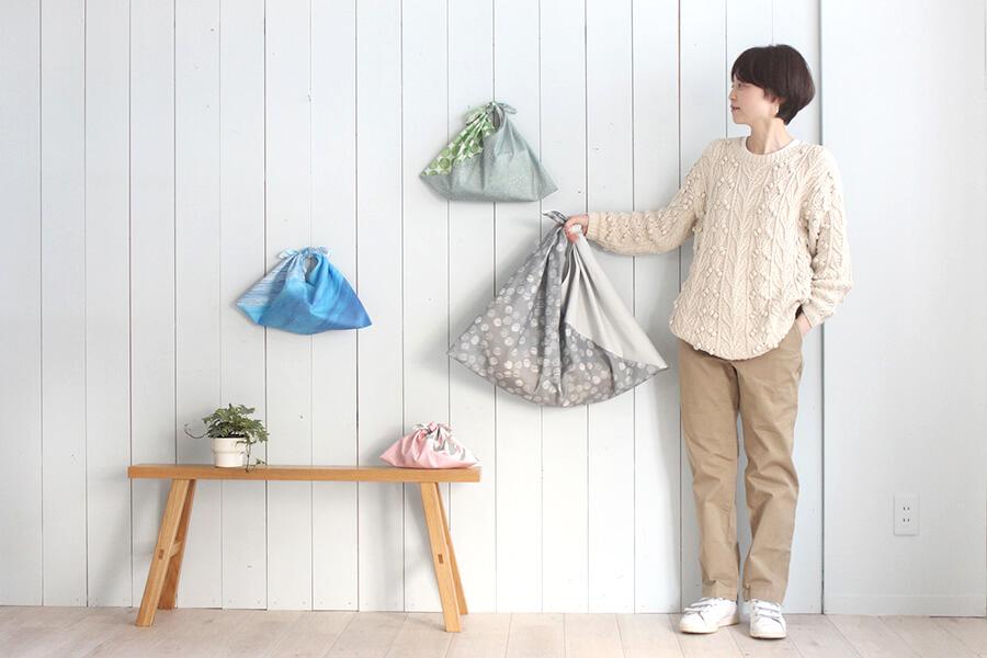 あづま袋 あずま袋 切り替え 作り方