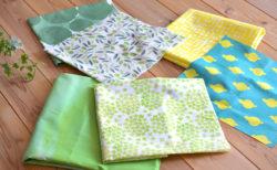 今日の、布コンビ愛。新緑が美しい季節なのでグリーン。