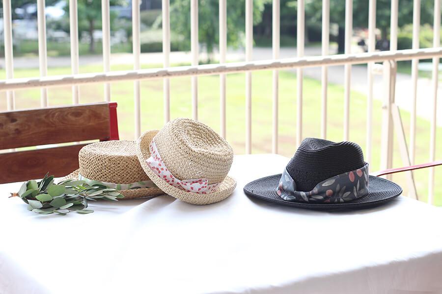 かんたんアレンジ♪ 帽子に布リボンのすすめ
