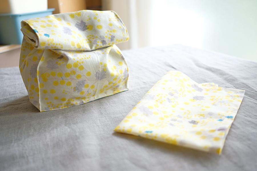 お弁当袋(ランチバッグタイプ)の無料型紙・製図と作り方