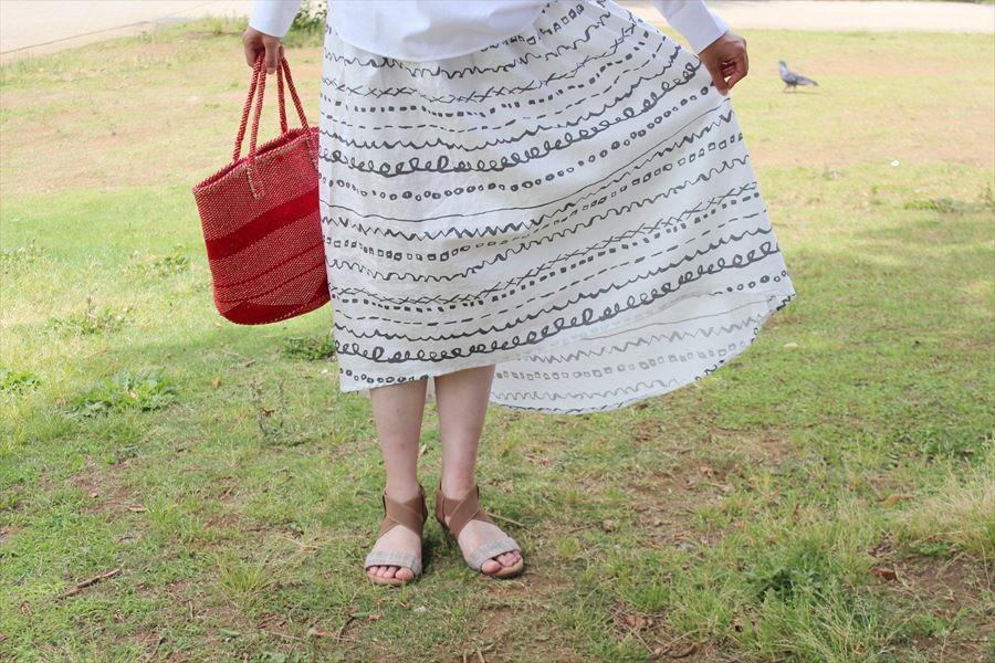 『きれいに見える「ひざ下20cmの服』のラウンドカットスカートを作ってみました
