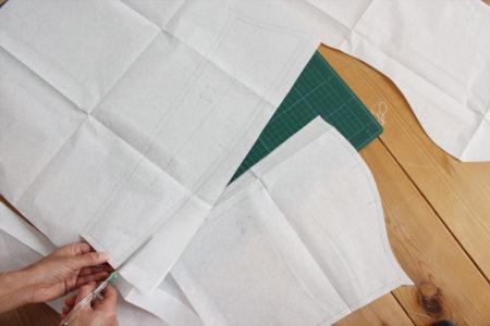 型紙の写し方(ぬいしろ付きの場合)
