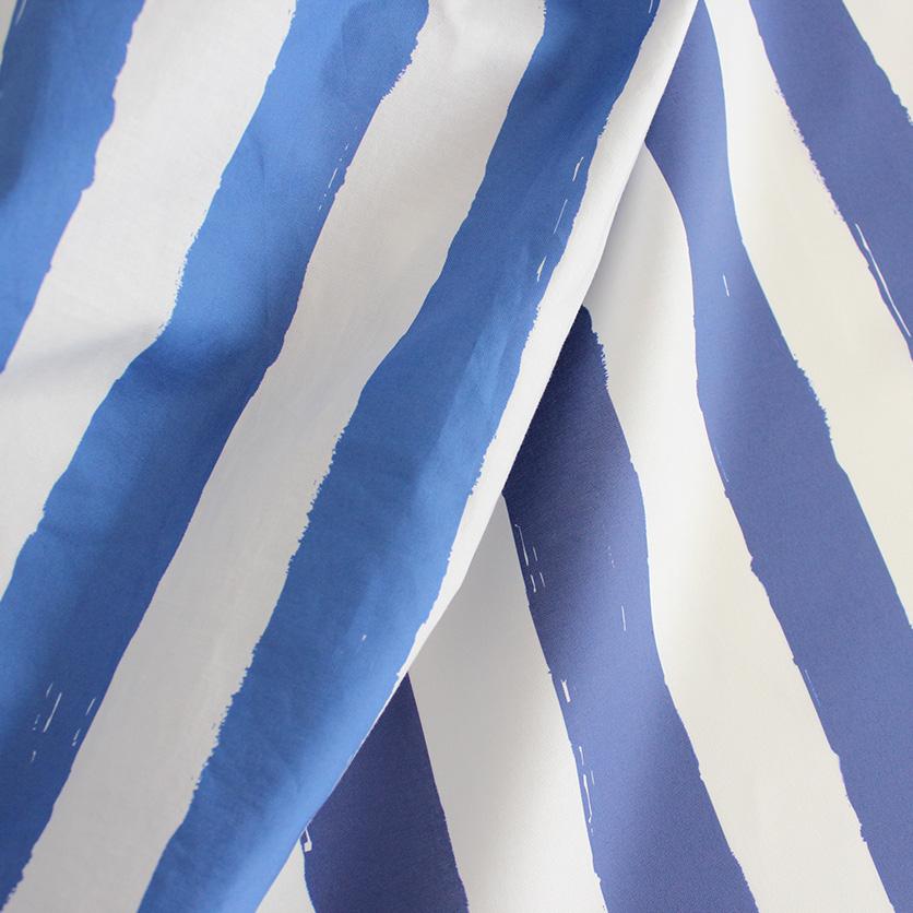 nunocoto fabric:ペンキで塗ったストライプ(ブルー)