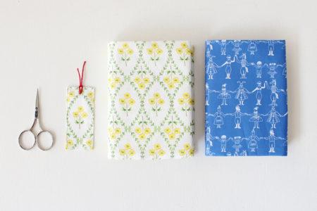 布1枚で作るブックカバーの作り方(2種)