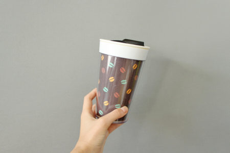 お気に入りの好きな布でコーヒータンブラーを着せ替えしてみよう!