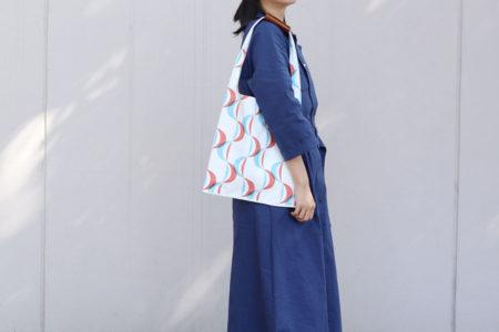 帆布で簡単!レジ袋型バッグの作り方(2種)