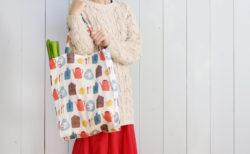 横マチつきでたっぷり入る!布製エコバッグの作り方(用尺:布幅×60cm)