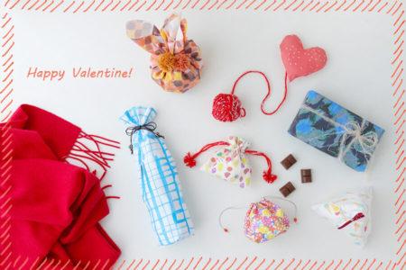 友チョコや本命チョコに!!布で作るバレンタインラッピング特集(5種)