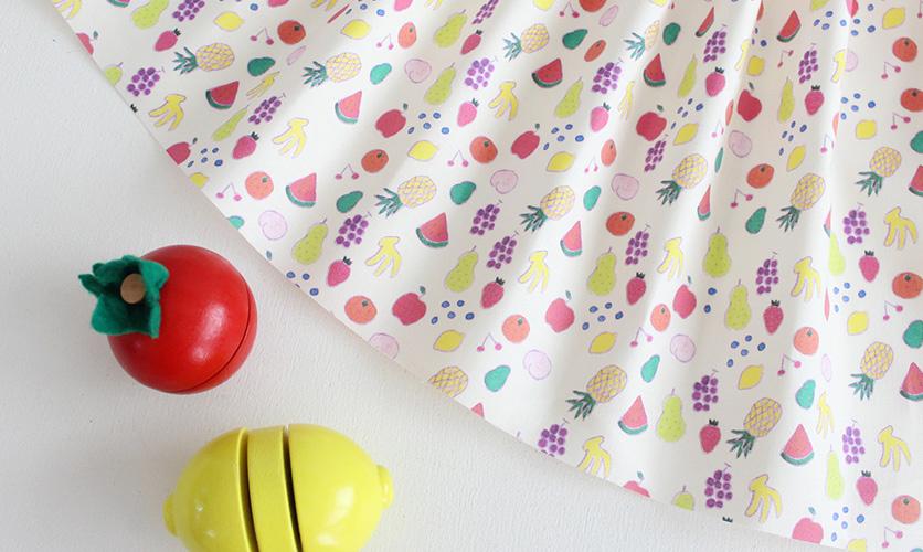 nunocoto fabric: フルーツパーティー