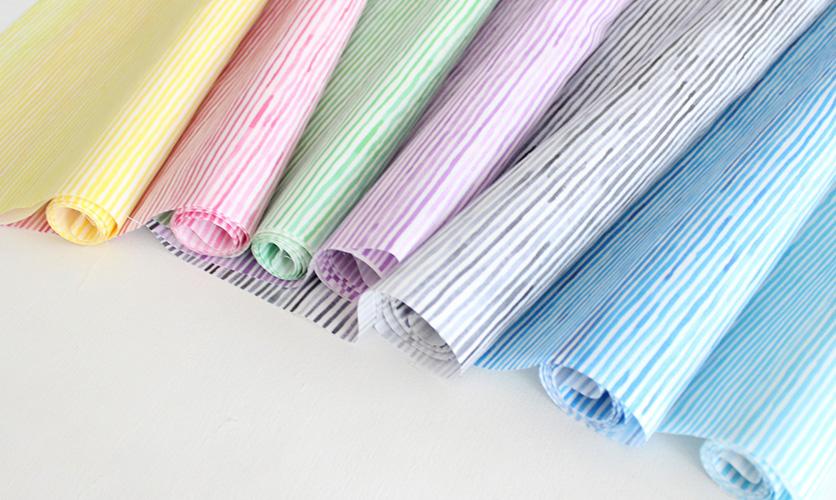 nunocoto fabric:水彩ボーダー 全カラー