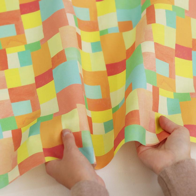 nunocoto fabric:Lindo(オレンジ)