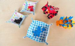 手縫いでも簡単!ハギレ布で作るミニトレイ