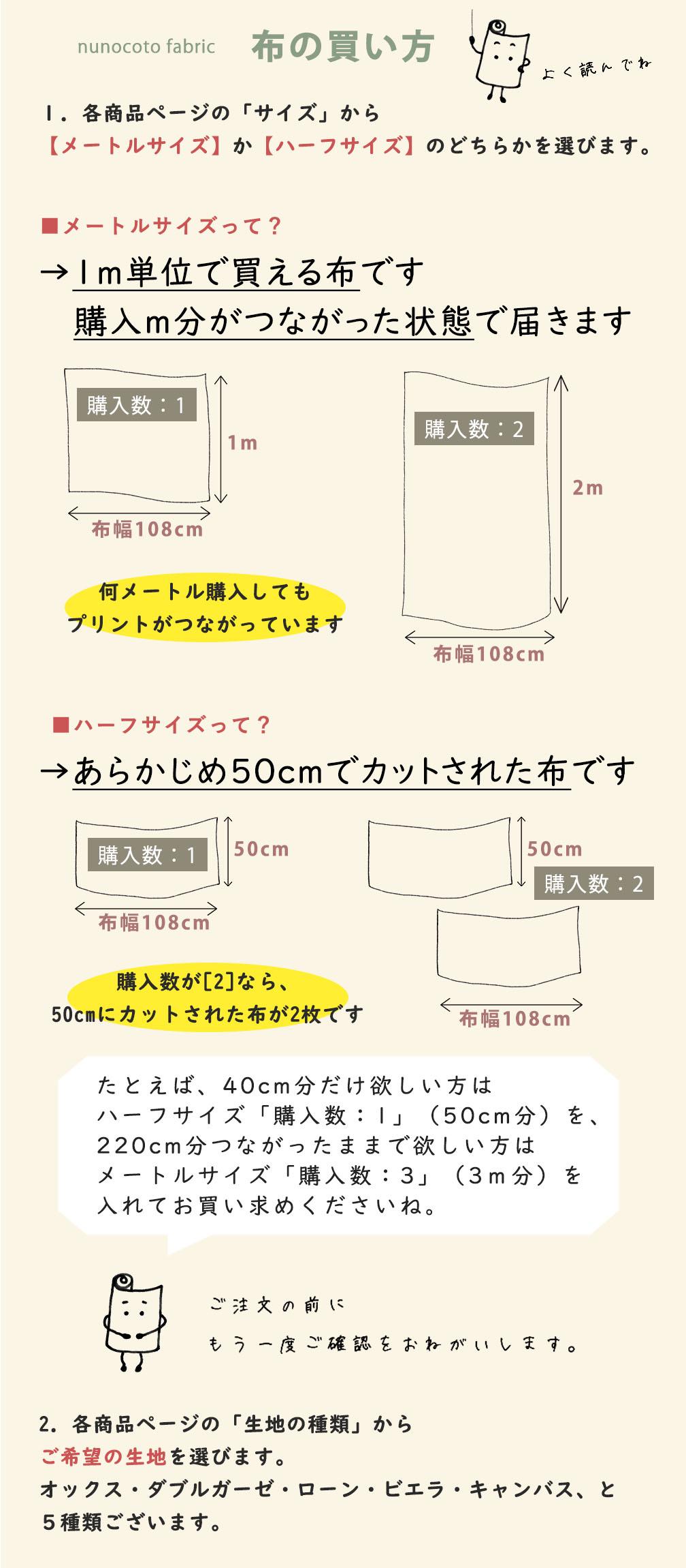 布の買い方について