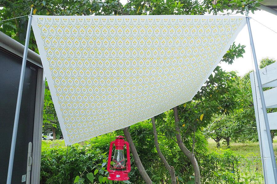 帆布(キャンバス生地)を使った簡単タープ
