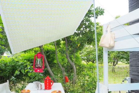 コットン帆布(キャンバス生地)を使って、簡単にタープを自作してみよう