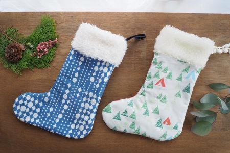 【無料型紙あり】クリスマスシーズンのインテリアに◎クリスマスソックスの作り方