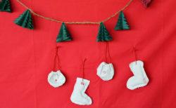 【無料型紙あり】クリスマスオーナメント用 くつした&巾着袋の作り方