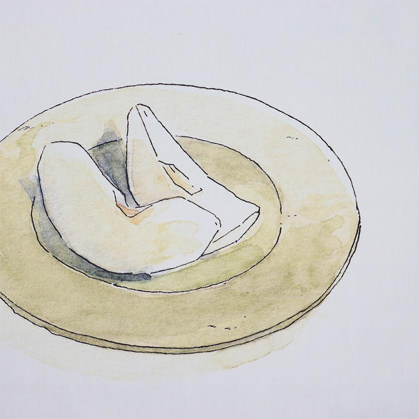 ファブリックポスターカシワイ目玉焼き