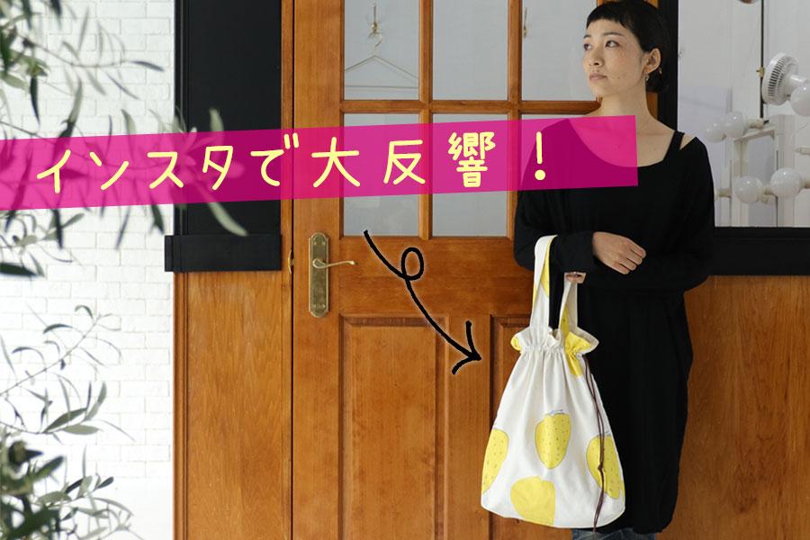 てしごと布小物キット第二弾:巾着トートバッグが発売になりました