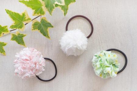 ハギレ布で作るポンポン(ボンボン)3種