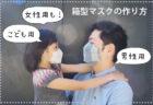 【型紙不要】西村大臣風!箱型マスク(ボックスマスク)の作り方〔男性・女性・子どもサイズ〕